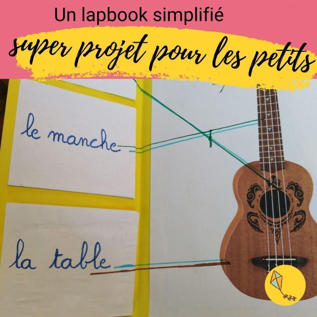 Un lapbook peut être un super projet à faire avec de jeunes enfants de maternelle en instruction en famille.