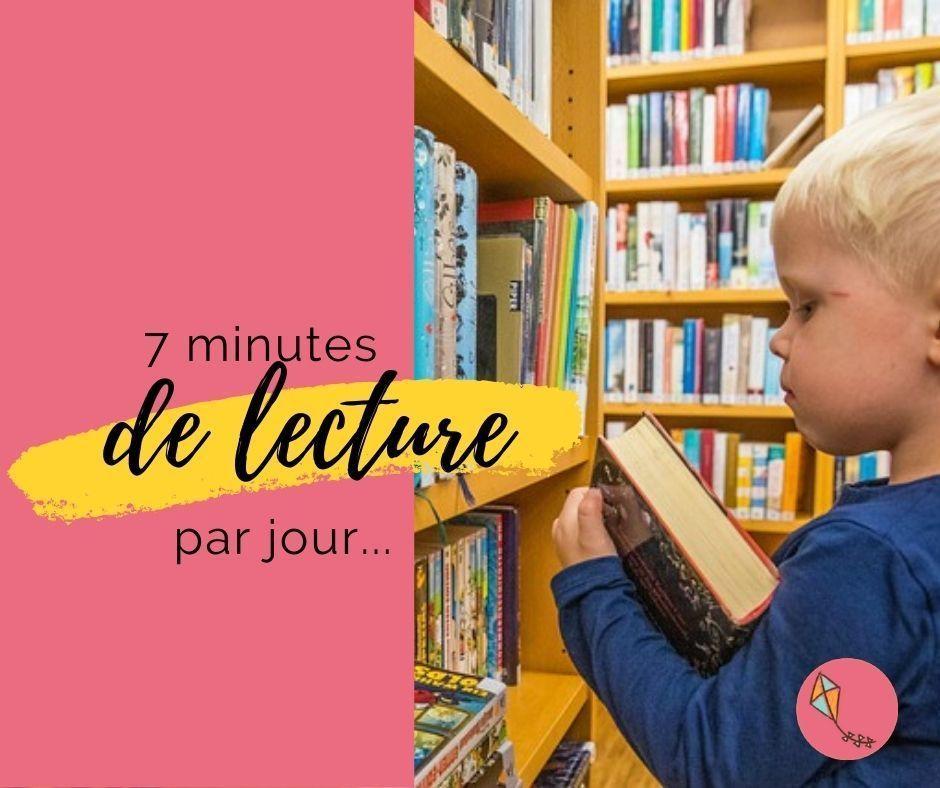 7 minutes de lecture par jour
