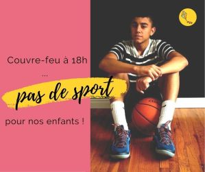 Couvre-feu : nos enfants ne font plus de sport !