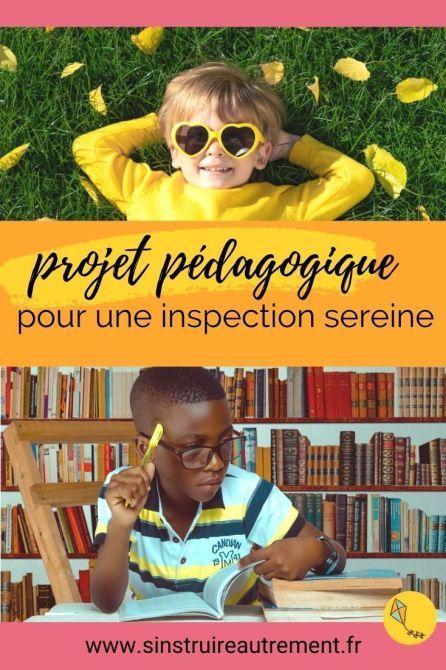 préparer l'inspection avec un projet pédagogique