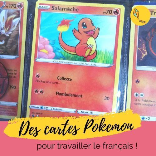 cartes Pokemon, un super support pour travailler le Français avec les enfants !