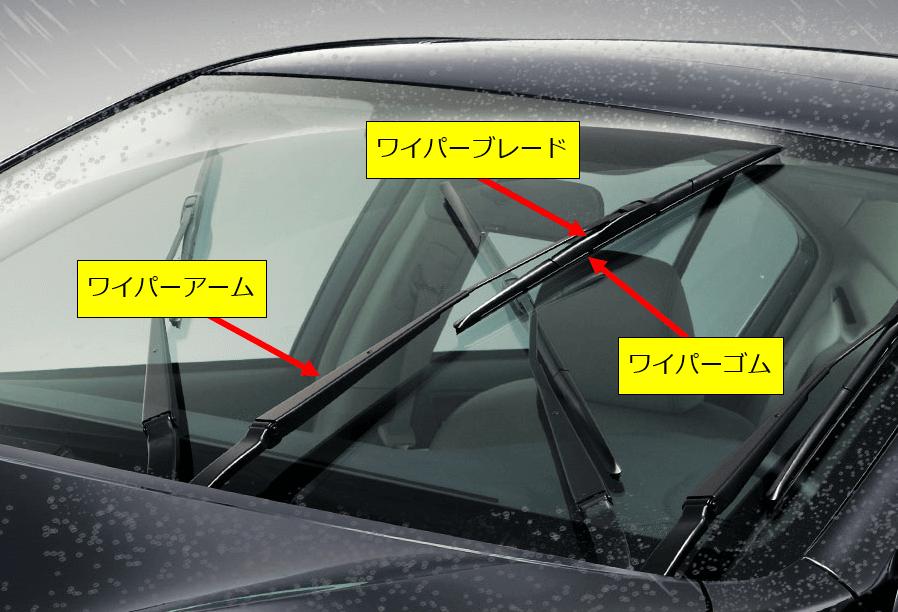 ワイパーゴムの交換方法 部品説明