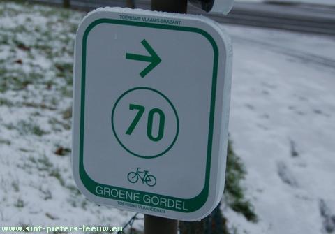 fietsknooppuntennetwerk in Sint-Pieters-Leeuw