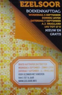 2013-09-07-affiche_ezelsoor_boekenkaftdag_Sint-Pieters-Leeuw