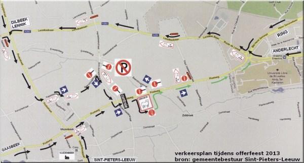 2013-10-09-verkeersplan-Vlezenbeek-tijdens-offerfeest-2013