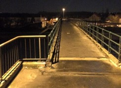 2015-02-12-voet-en-fietsbrug Kanaal-NACHT