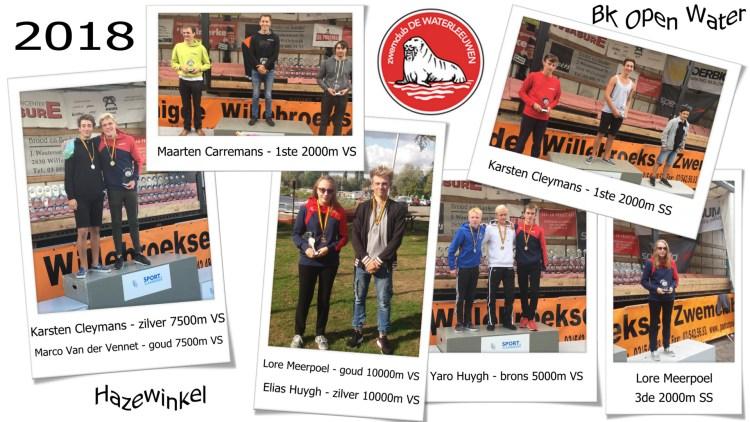 zwemclub De Waterleeuwen behaalde enkele Belgische titels