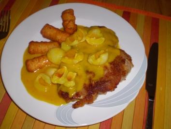 fleisch-schnitzel-in-curry-sahne-sosse-mit-litschi-rezept