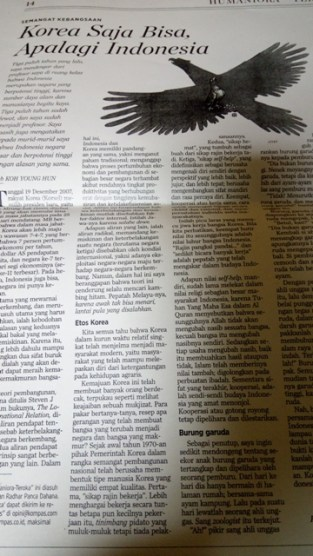 Tulisan ttg Indonesia
