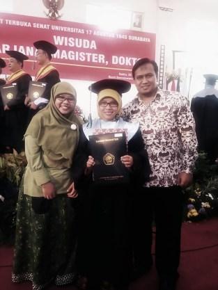 Sinta & Sofyan Wisuda MAgister