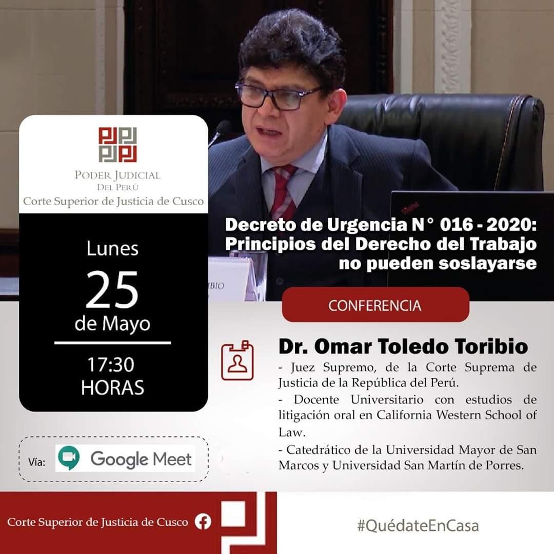 Decreto de Urgencia 016-2020 – Principios del Derecho del Trabajo No Pueden Soslayarse