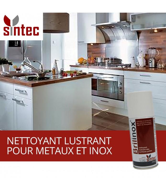 sintec brilinox nettoyant lustrant pour metaux et inox