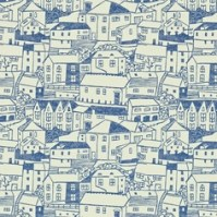 St Ives fabric and wallpaper in Indigo by Sanderson