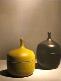 Yellow glazed pots
