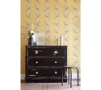 Yellow and greys with dark furniture compliment each other