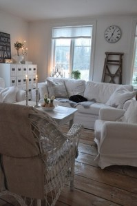 White used in a country style sitting room