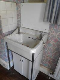 Original Bedroom Basin which we're hoping to re- use or sell. (minus the DIY cupboard beneath!).