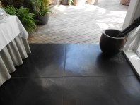Charcoal polished concrete floor. 20 Degrees Sud