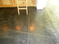 Polished charcoal concrete floor. 20 Degrees Sud