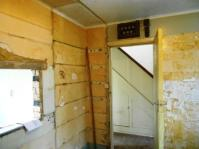 kitchen Units stripped out ready for wall removal.
