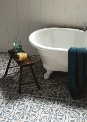 Tiled flooring from Fired Earth