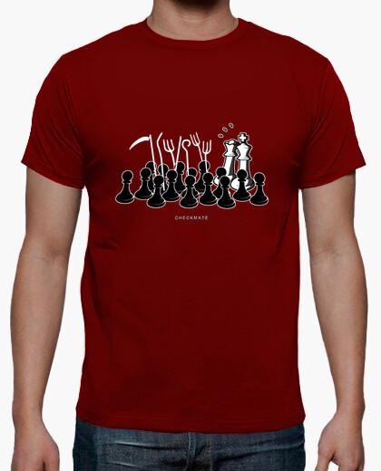 Camiseta Jaque Mate color burdeos