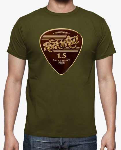 Camiseta Rock & Roll Pick color army