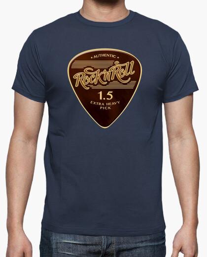 Camiseta Rock & Roll Pick color azul denim