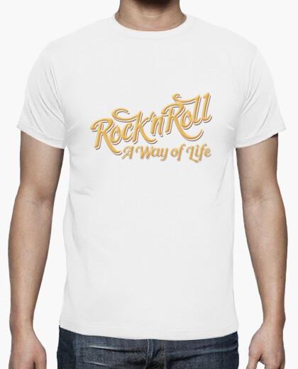 Camiseta Rock n Roll WOL color blaco