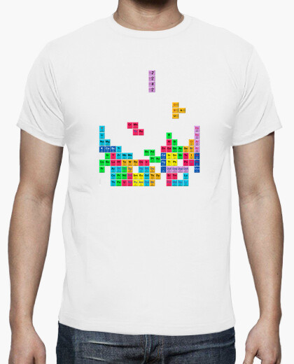 Camiseta Tabla periódica Tetris color blanco