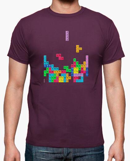 Camiseta Tabla periódica Tetris color morado