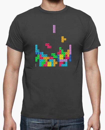Camiseta Tabla periódica Tetris color gris ratón