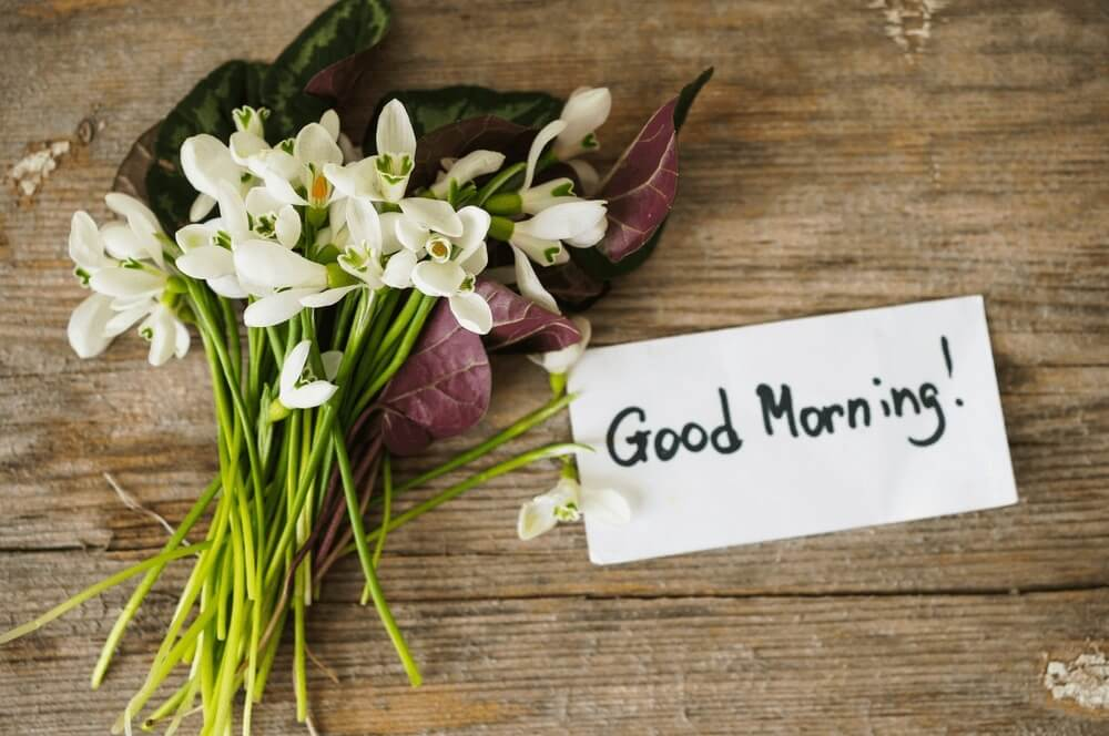 Good morning images of Bouquet of the first spring flowers