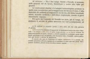 il 27-28 gennaio 1916 si prende in carico una stufa Giannolli all'Asinara.
