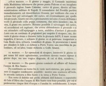 la pagina interessata relativa all'affondamento del piroscafo