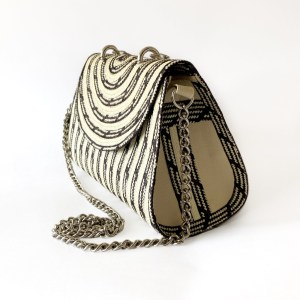Handmade wicker handbag with handle SinuForYou