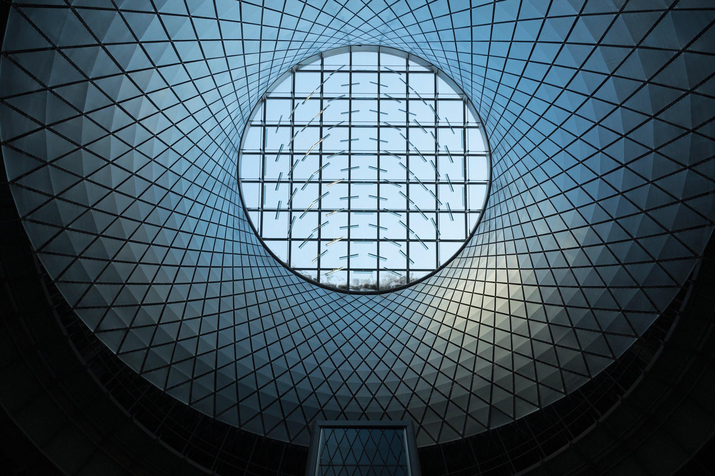 Fulton Center SkyReflector Net  Steel Institute of New York