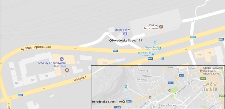 Punkt odjazdu busika z Lwowa