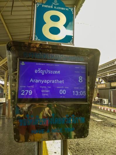 Pociąg do Aranyaprathet - Poipet - granica Kambodży