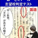第一ゼミナールの志望校判定テスト国語の結果