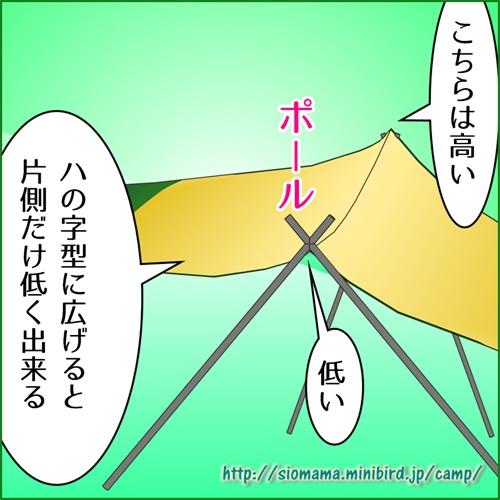 クロスポールヘキサは片側だけ高さを変えることが出来ると得で説明