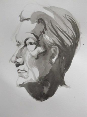 portrait study in Ink 2012