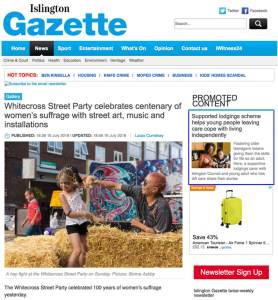 Islington Gazette picture special of Whitecross street party 2018. Photograph by Siorna Ashby, a portrait photographer in north London, Finsbury Park for the Islington Gazette