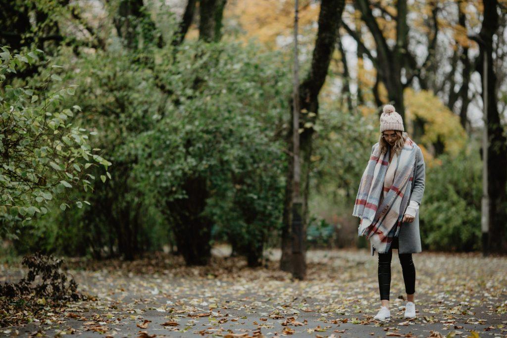 Jesienna pastelowa stylizacja