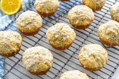 Glazed Lemon Poppyseed Muffins | Sip and Spice