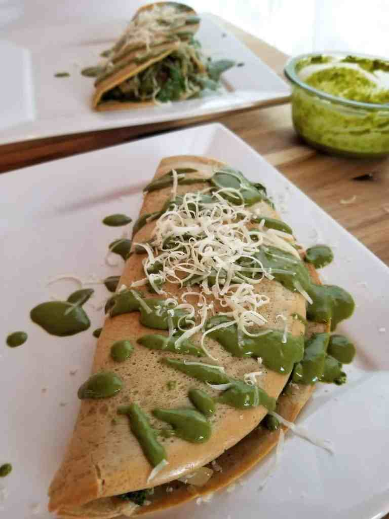Socca Flatbread with Pesto