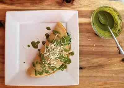 Farinata with Pesto