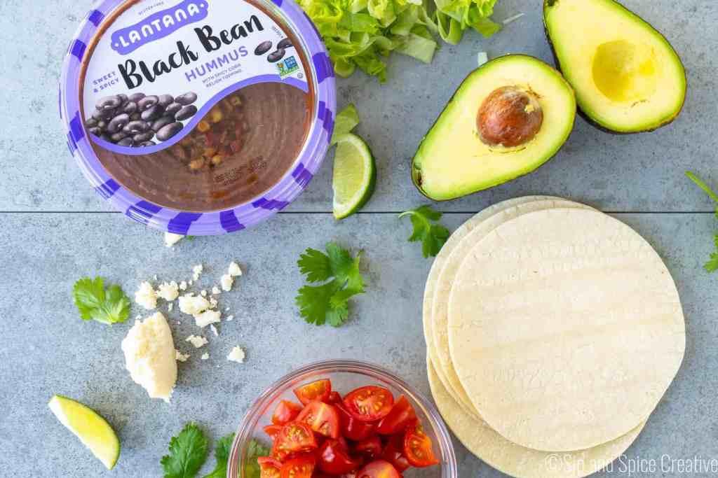Quick Black Bean Tostadas | Sip and Spice