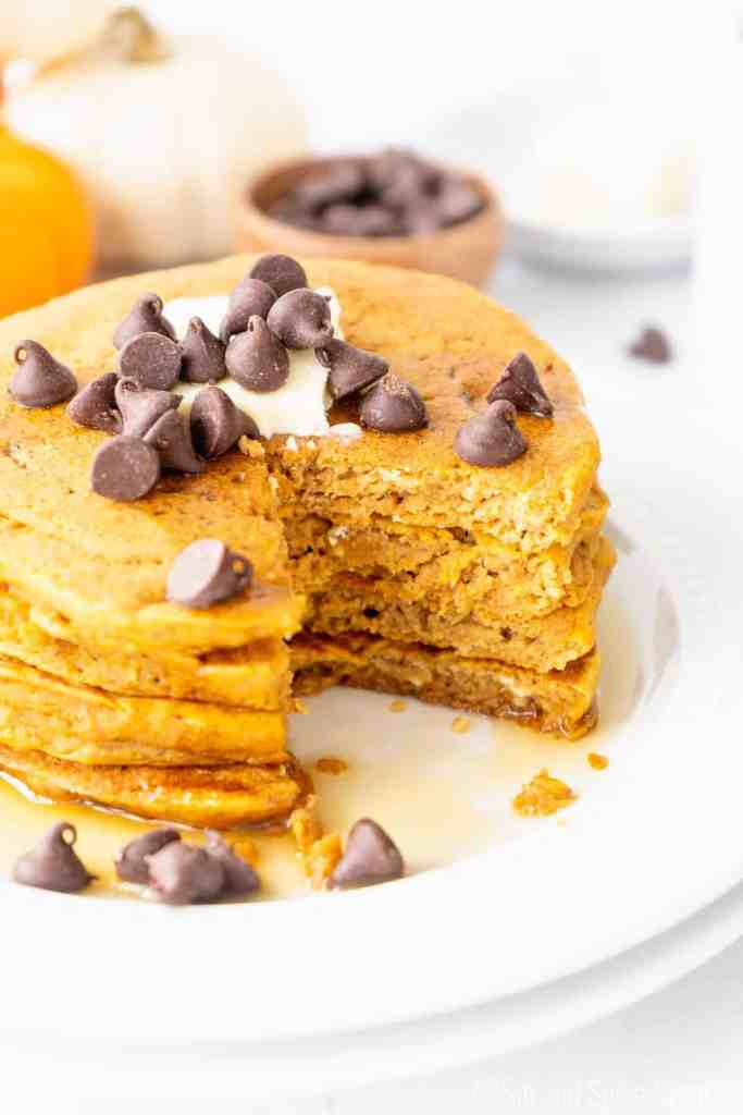 Easy Pumpkin Pancakes | Sip and Spice