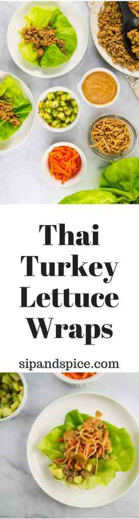 Thai Turkey Lettuce Wraps | Sip + Spice